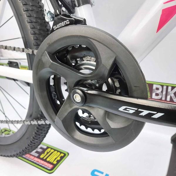 Bicicleta-guayaquil-mtb-montañera-talla-mega-bike-store-bike-shimano-gti-roxy-aro-26-blanco-rosado