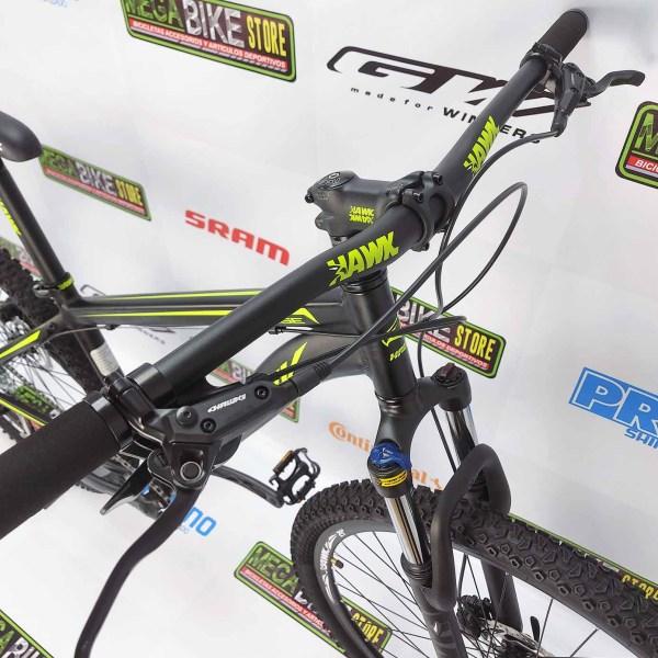 Bicicleta-guayaquil-mtb-montañera-talla-mega-bike-store-bike-shimano-hawk-savage-aluminio-aro29-negro-amarillo-sunrace.