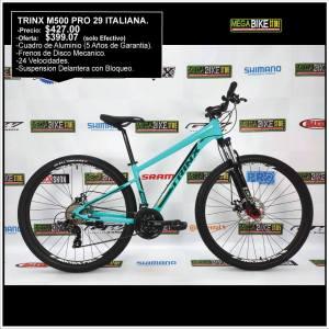 Bicicleta-guayaquil-mtb-montañera-talla-mega-bike-store-bike-shimano-trinx-aluminio-aro29-m500pro-turquesa