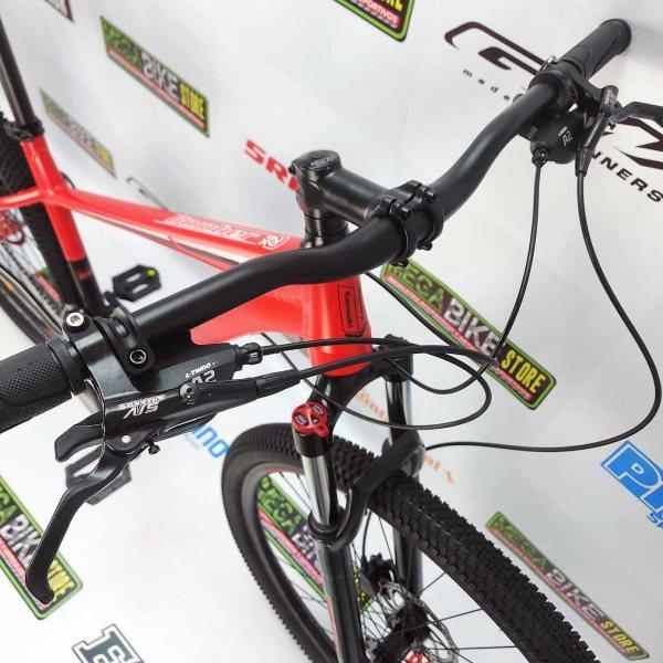 Bicicleta-guayaquil-mtb-montañera-talla-mega-bike-store-bike-shimano-aluminio-kawasaki-bomber-aro-29-negro-rojo