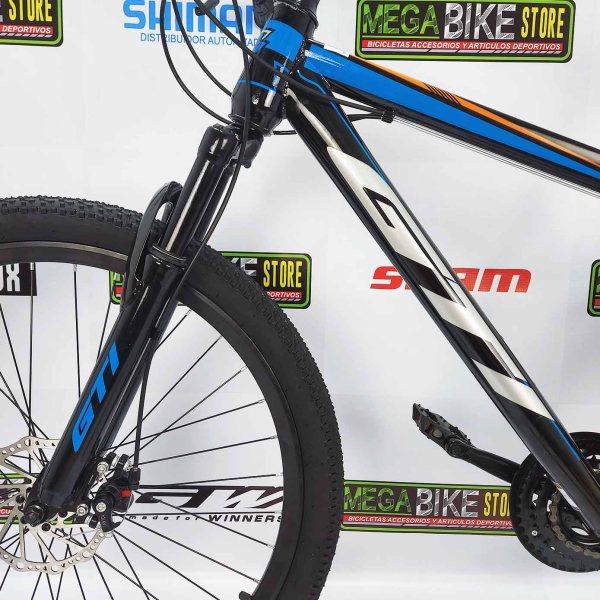 Bicicleta-guayaquil-mtb-montañera-talla-mega-bike-store-bike-shimano-gti-rocket-acero-aro-26-negro-azul-