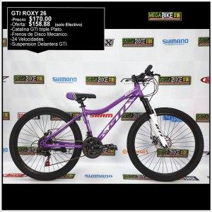 Bicicleta-guayaquil-mtb-montañera-talla-mega-bike-store-bike-shimano-gti-roxy-aro-26-acero-blanco-morado