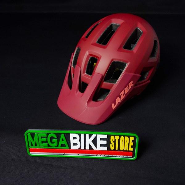 Bicicleta-guayaquil-mtb-montañera-talla-mega-bike-store-bike-shimano-lazer-coyote-mips-blanco-rojo.