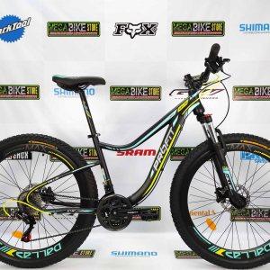 Bicicleta-guayaquil-mtb-montañera-talla-mega-bike-store-bike-shimano-profit-dallas-aro-27.5-acero-negro-verde.