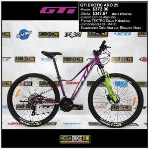Bicicleta-guayaquil-mtb-montañera-talla-mega-bike-store-bike-shimano-gti-exotic-aluminio-aro-29-verde-morado.
