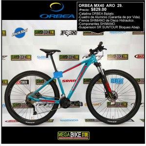 Bicicleta-guayaquil-mtb-montañera-talla-mega-bike-store-bike-shimano-orbea-mx40-aluminio-aro-29-rojo-azul
