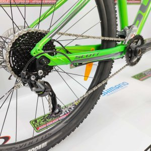 Bicicleta-guayaquil-mtb-montañera-talla-mega-bike-store-bike-shimano-scott-aspect-950-aro-29-aluminio-gris-verde