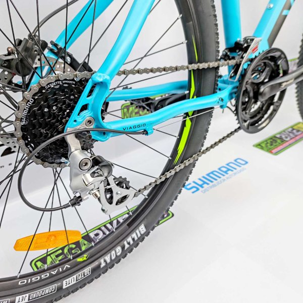 Bicicleta-guayaquil-mtb-montañera-talla-mega-bike-store-bike-shimano-viaggio-route-593-aro-27.5-aluminio-turquesa.