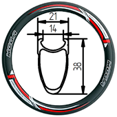 451-38 clincher rim 20inch mini velo folding bike rim