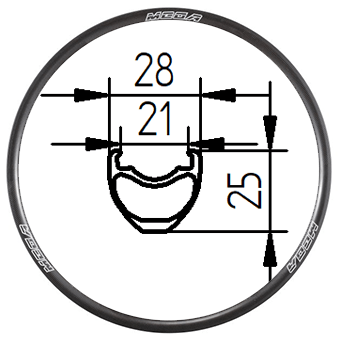 29C+ 29 inch Tubeless clincher MTB rim