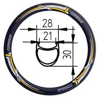 406-30 tubeless clincher rim