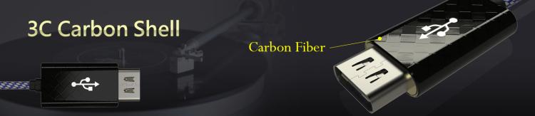 carbon USB Type C HDMI shell