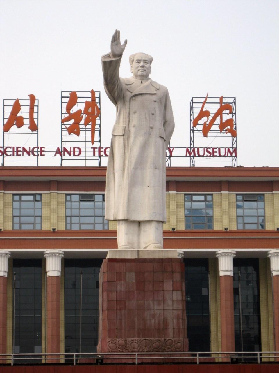 Estatua De Mao Zedong Chengdu Megaconstrucciones