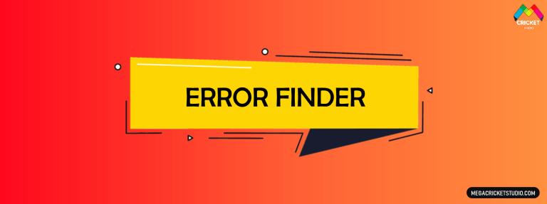 Error Finder for EA Sports Cricket 07