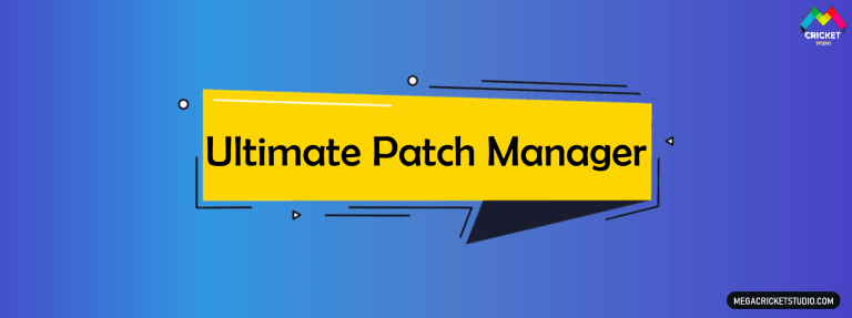 Ultimate Patch Manager for EA Sports Cricket 07