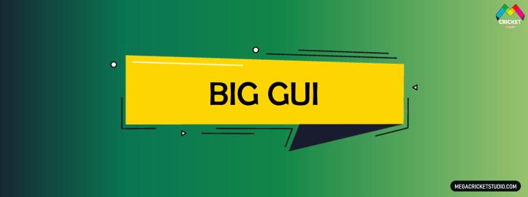 BigGUI for EA Sports Cricket 07