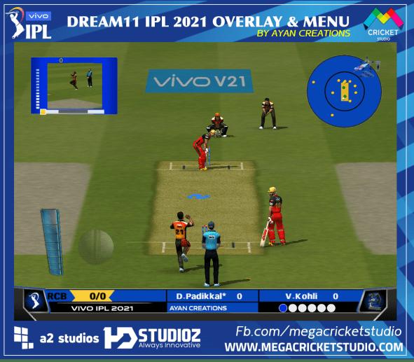 OVERLAY EA CRICKET 07 MEGACRICKETSTUDIO VIVO IPL 2021