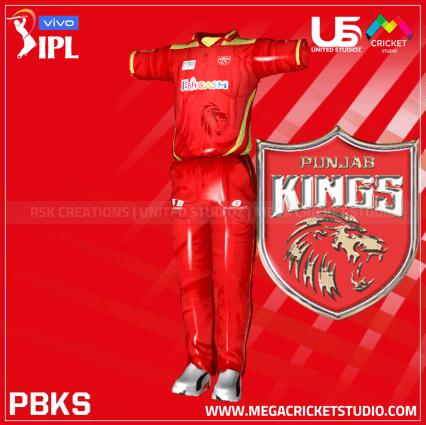 punjab kings hd kit 2021 for ea cricket 07 megacricketstudio