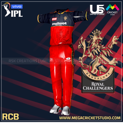 royal challengers bangalore red hd kit 2021 for ea cricket 07 megacricketstudio