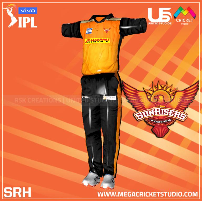 Sunrisers Hyderabad VIVO IPL 2021 Kit for EA Sports Cricket 07