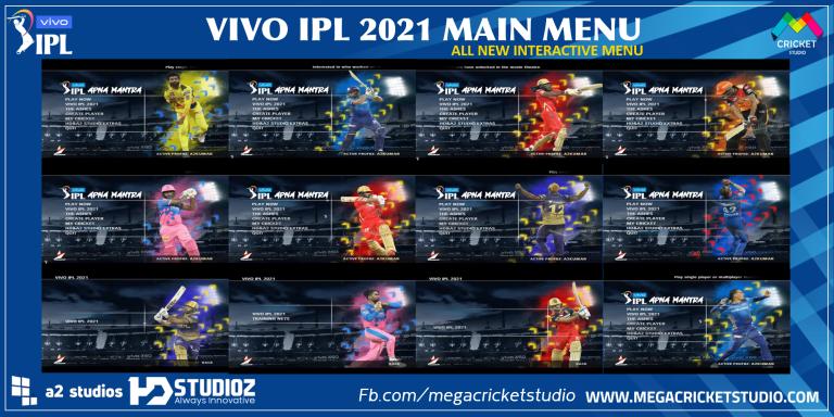 VIVO IPL 2021 Main Menu for EA Cricket 07