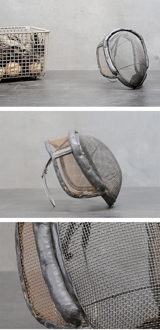 Belgian Fencers Leather and Mesh Mask.