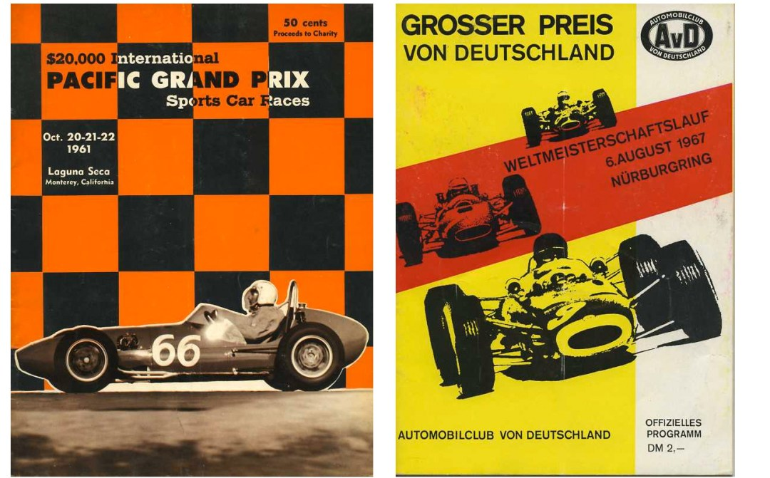 Auto Racing Programs From The 50's & 60's