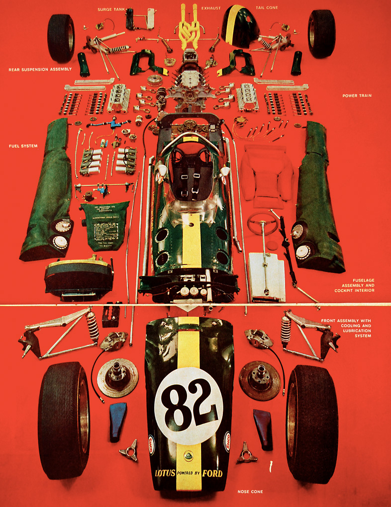 Exploded Lotus-Ford (1965)