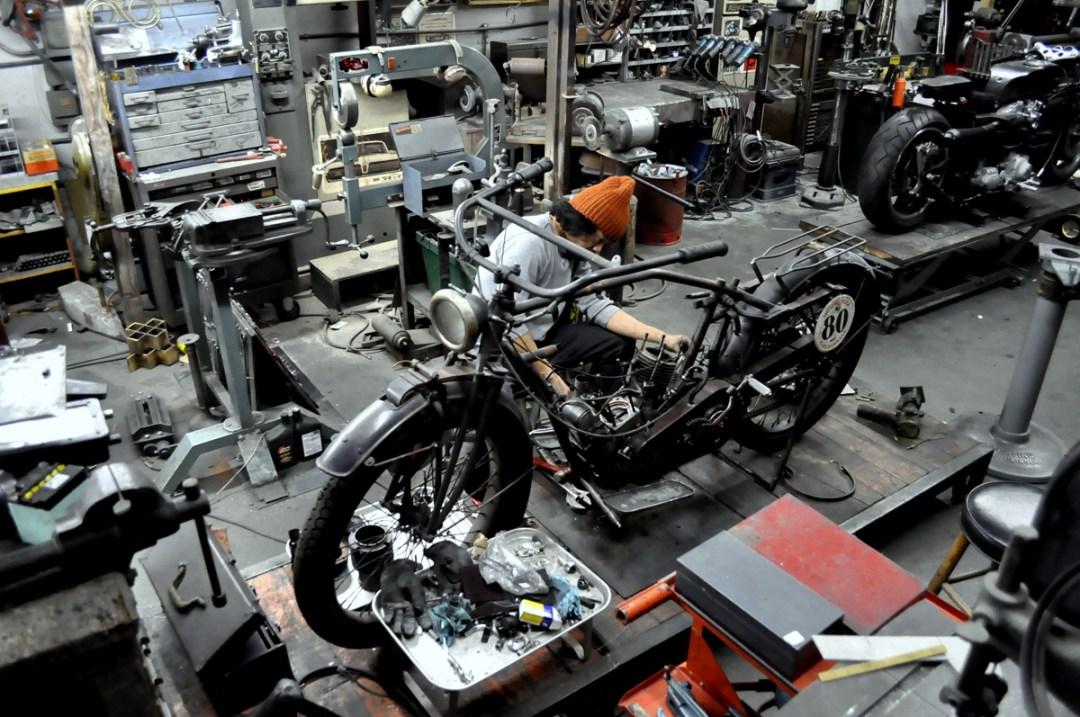 Shinya Kimura in his workshop