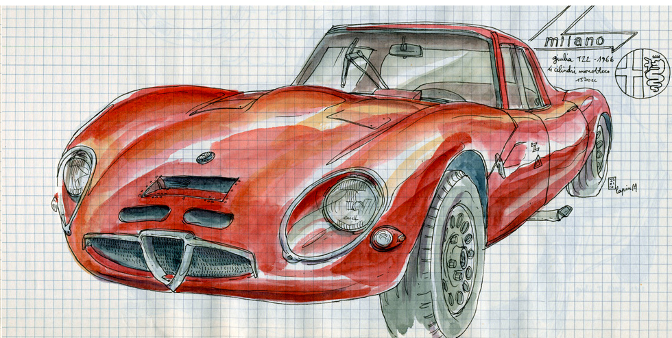 Alfa Romeo Centenary :: Les Illustrations de Lapin (6)