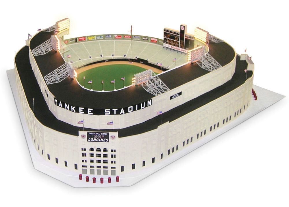 1/8 Scale 1961 Yankee Stadium :: Hammacher Schlemmer (1)