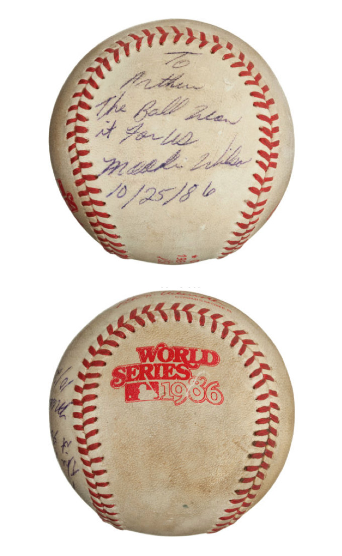 """The Famous """"Buckner Ball"""" from the 1986 World Series, Game Six. (1)"""