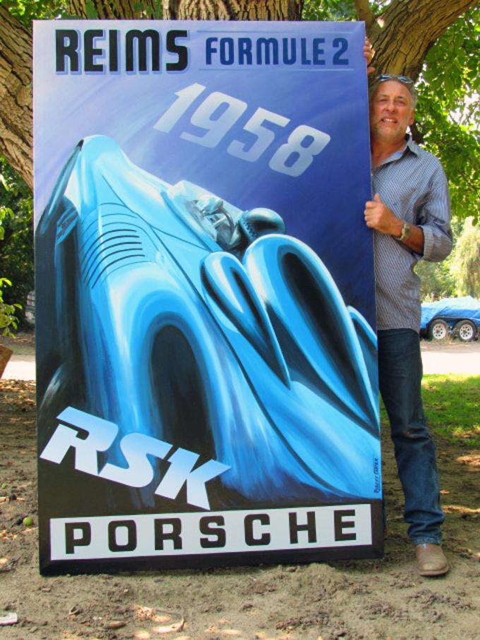 Robert Carter :: Porsche RSK Painting