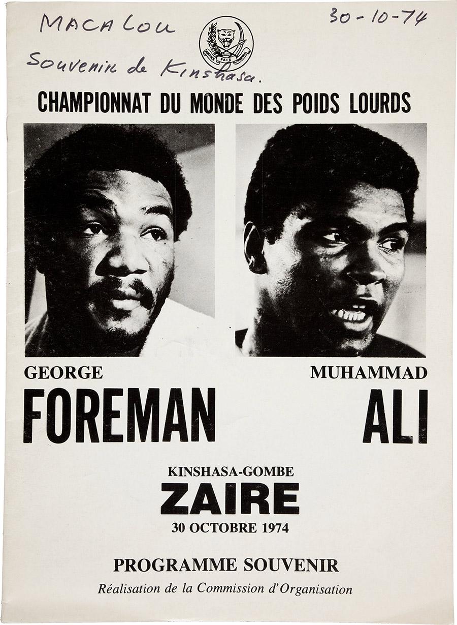 "1974 Ali vs. Foreman ""Rumble in the Jungle"" On-Site Fight Program"