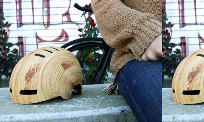 Woodgrain Helmet by Mission Helmet :: via Bless My Stuff