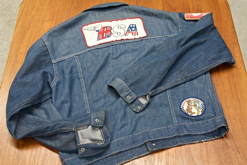 Vintage Mid-Century Ranchcraft J.C.P.Co. Demin Jacket with Various Racing Patches