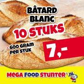batard blance 10 stuks 7 euro