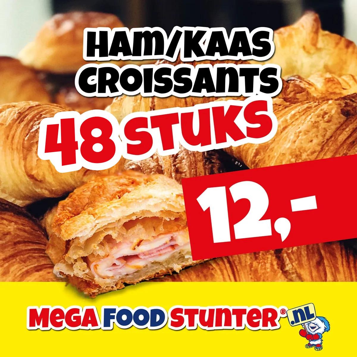 ham kaas croissants 48 stuks
