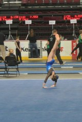 Gem State Invitational 2013 Floor Back Roll to Handstand - Level 6