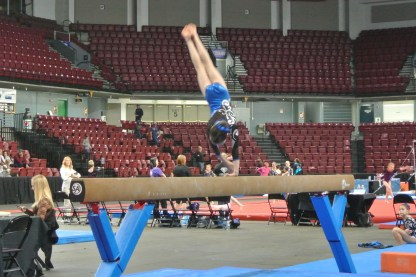 Queen of Hearts Invitational 2013 Beam Dismount- Level 6