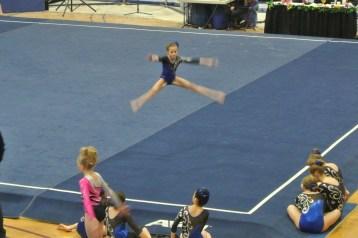 Idaho State Championships 2013 Floor Straddle Jump - Level 6
