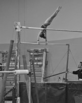 Intrasquad Meet 2013 Bars - Level 7 - First try at her giant