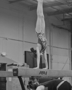 Intrasquad Meet 2013 Beam - Level 7 - And hold hand stand