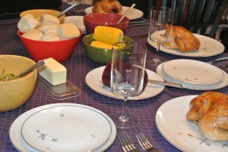 Table set for the feast