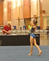 Classic Rock Invitational 2014 Floor Dance Move - Level 7 - huge smile after her back layout