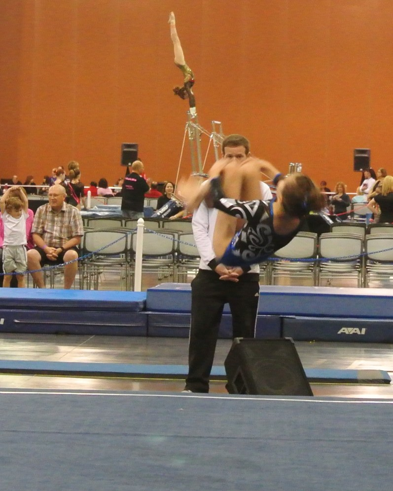Classic Rock Invitational 2014 Floor Front Tuck - Level 7