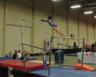 Queen of Hearts Invitational 2014 Bars Transfer to High Bar - Level 7