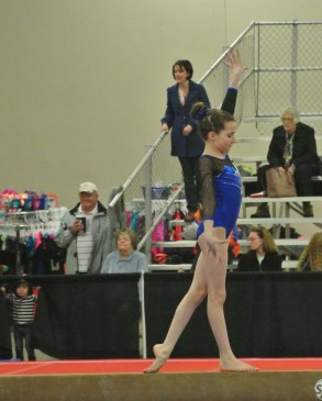 Queen of Hearts Invitational 2014 Beam Balance Move - Level 7