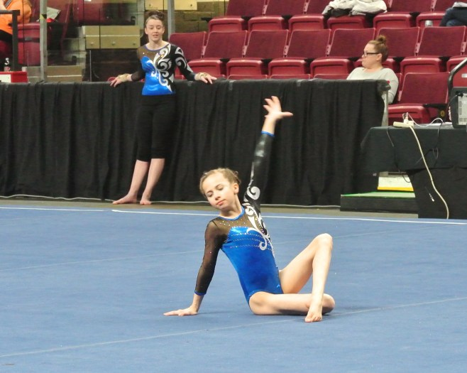 Idaho State Championships 2014 Floor Final Pose - Level 7