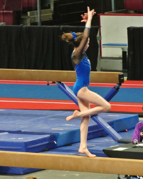 Idaho State Championships Beam Turn - Level 7